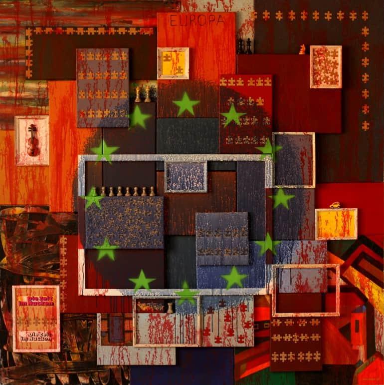bild gemälde malerei abstract painting art work collage